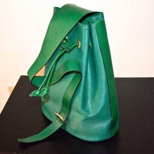 Handbags - NEW Genuine Leather Green Italian Backpack